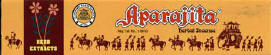 Aparajita incense                                             favorite incense of george                                             harrison and ravi shankar
