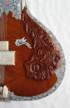 right side carvings on sitar tabli