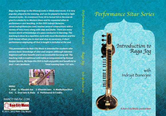 Sitar lessons in Raga Jog lessons on sitar