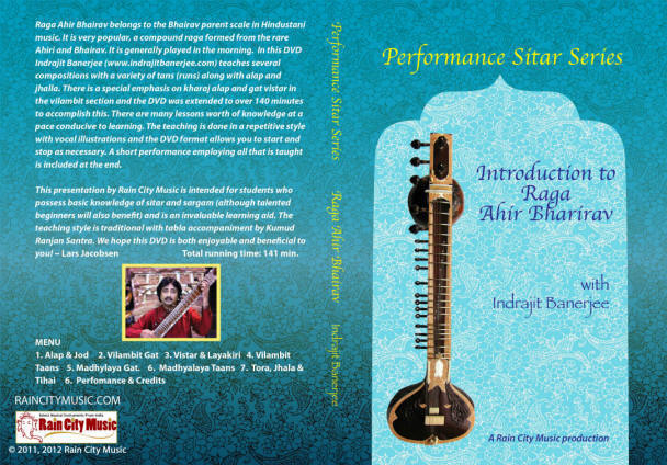 learn sitar ahir bhairav on sitar DVD