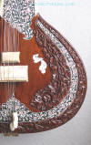 Tabli carvings with inlay flat sitar from Naeem Sitarmaker